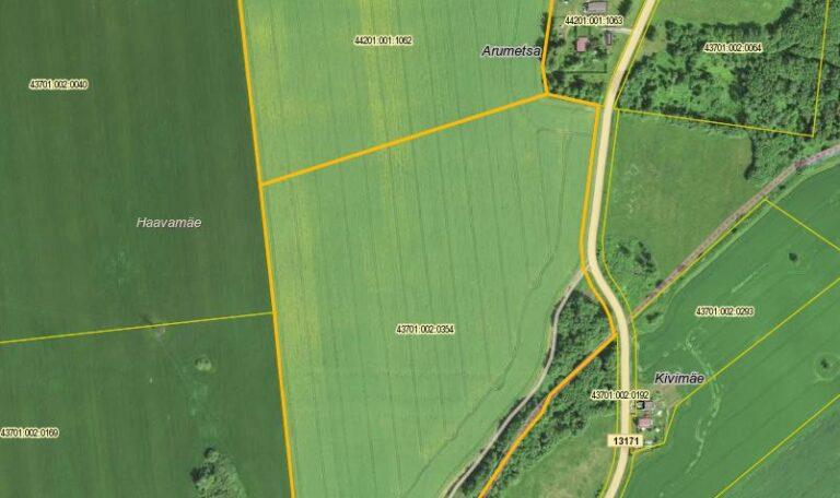 Agricultural land in Lüganuse parish